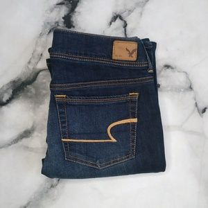 American Eagle Lightly Distressed Kick Boot Jeans